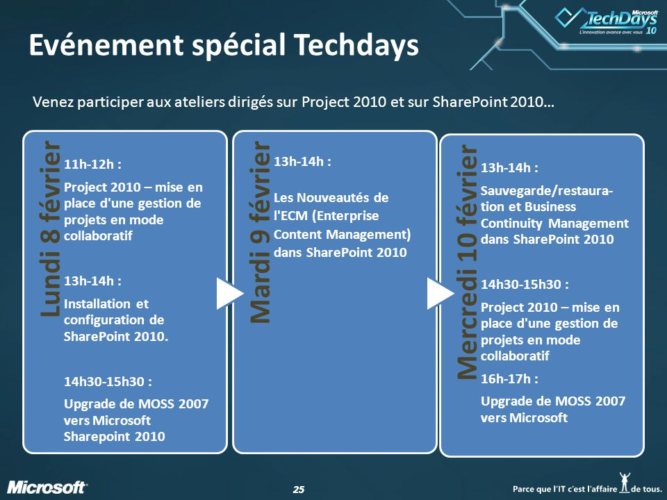 Evénement spécial Techdays