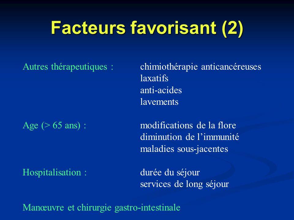 Facteurs favorisant (2)