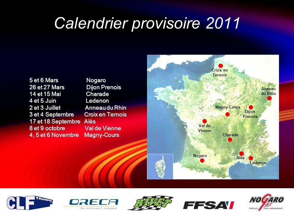 Calendrier provisoire 2011