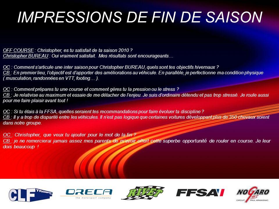 IMPRESSIONS DE FIN DE SAISON