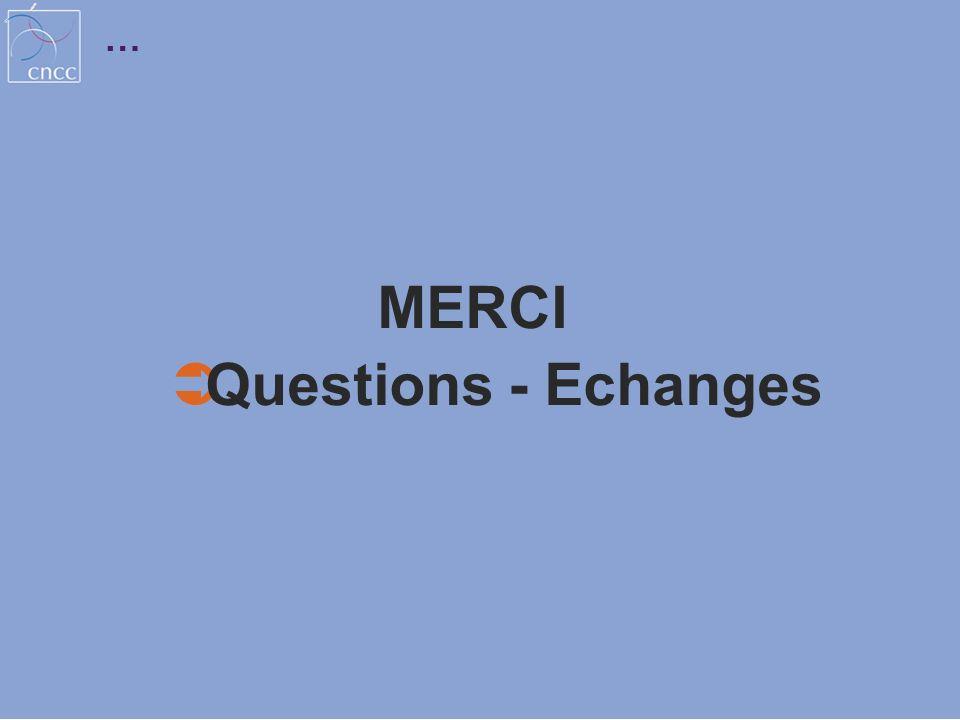 MERCI Questions - Echanges