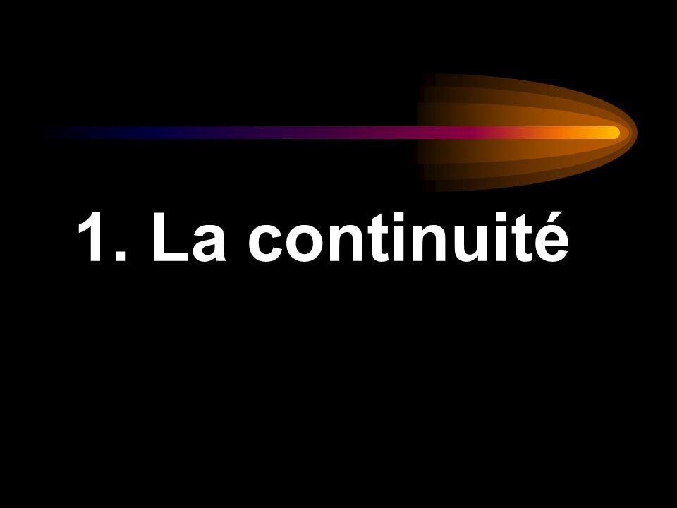 1. La continuité