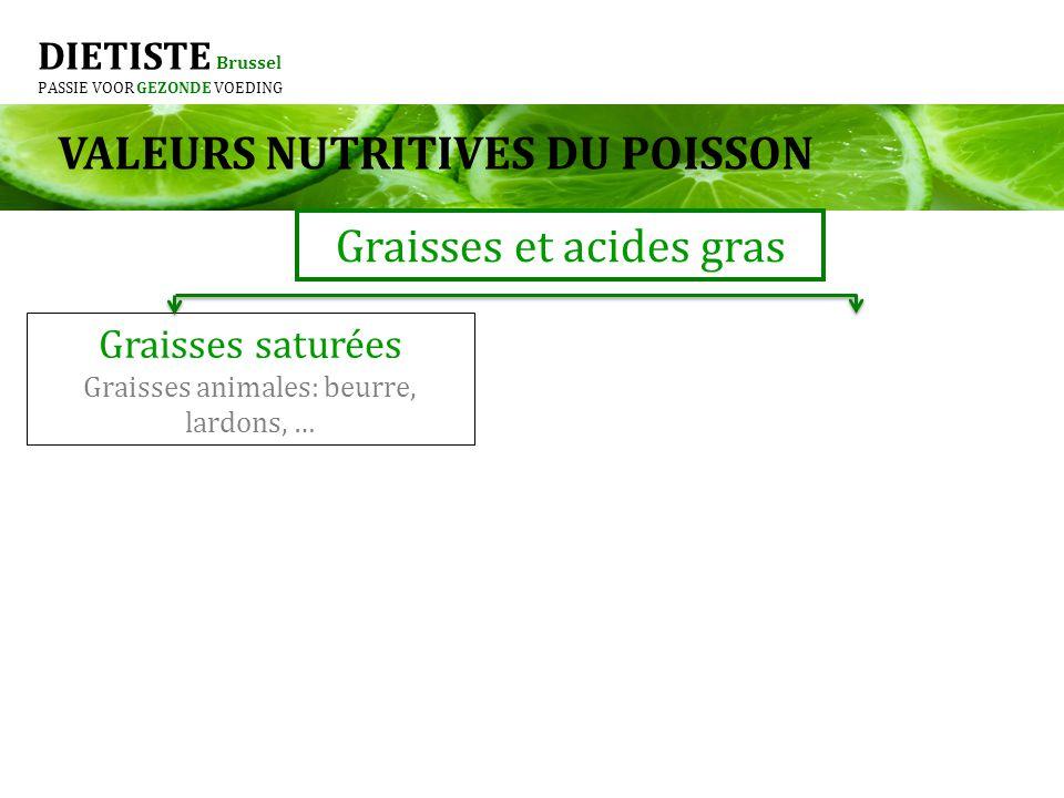 VALEURS NUTRITIVES DU POISSON