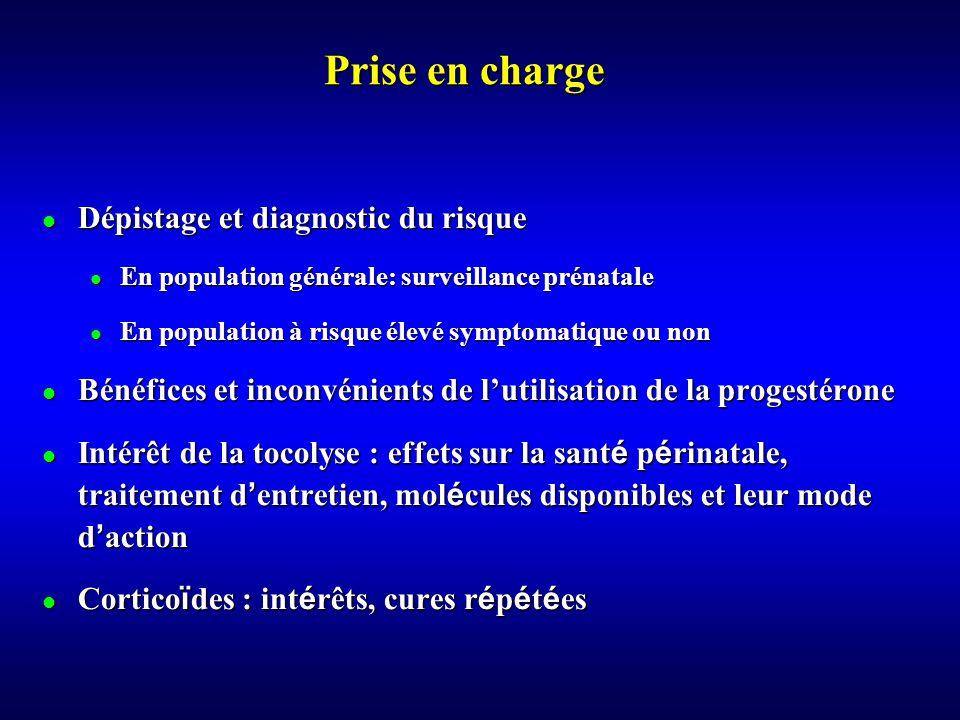 Prise en charge Dépistage et diagnostic du risque