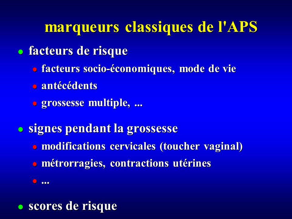 marqueurs classiques de l APS