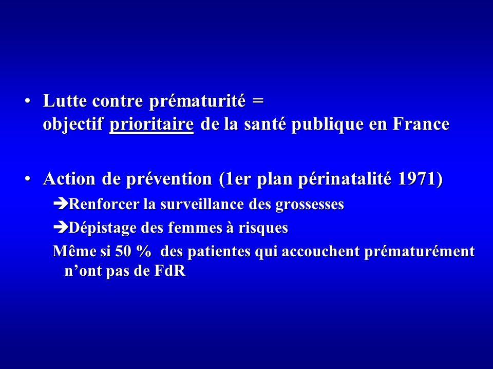 Action de prévention (1er plan périnatalité 1971)