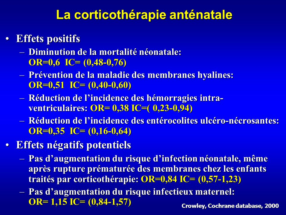 La corticothérapie anténatale