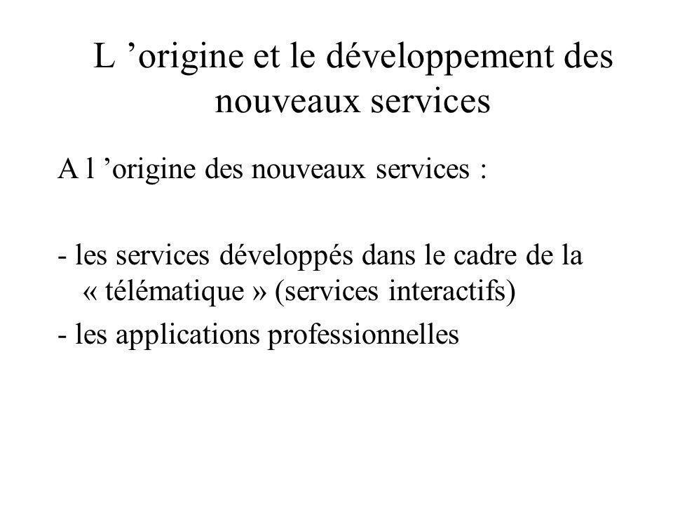 L 'origine et le développement des nouveaux services