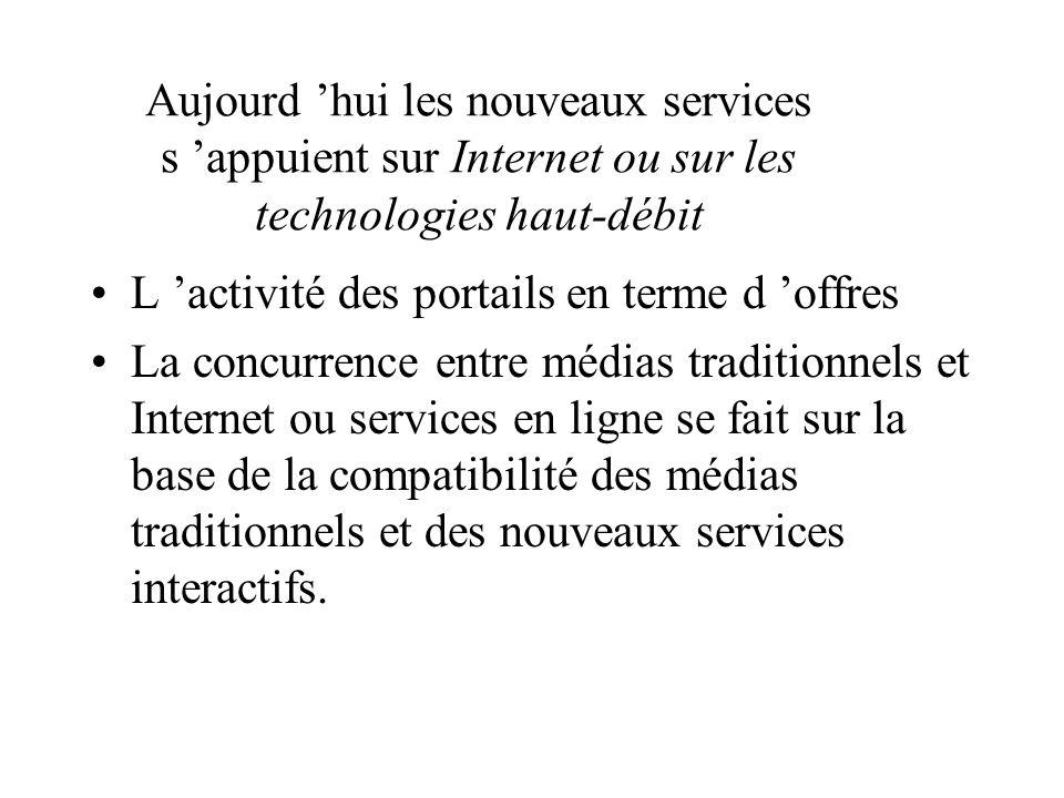 Aujourd 'hui les nouveaux services s 'appuient sur Internet ou sur les technologies haut-débit