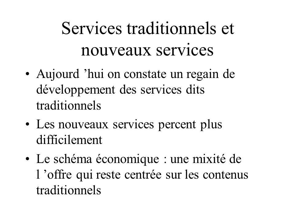 Services traditionnels et nouveaux services