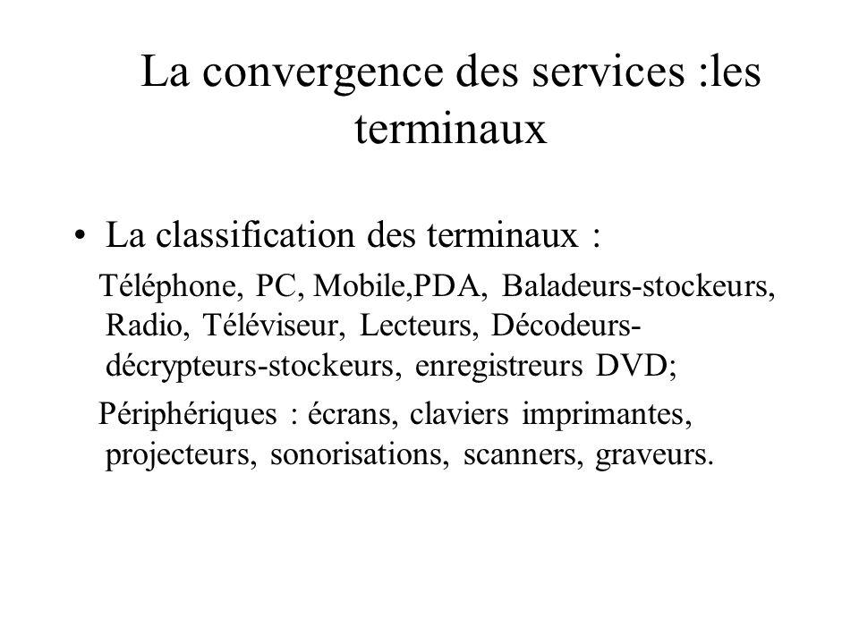La convergence des services :les terminaux