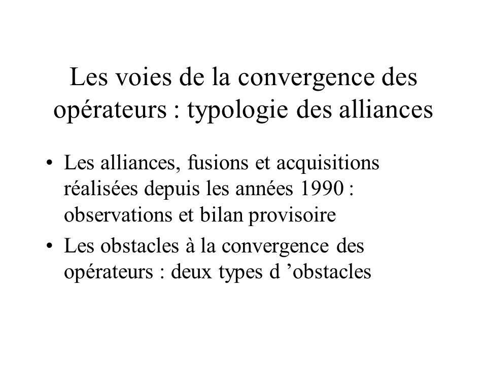 Les voies de la convergence des opérateurs : typologie des alliances