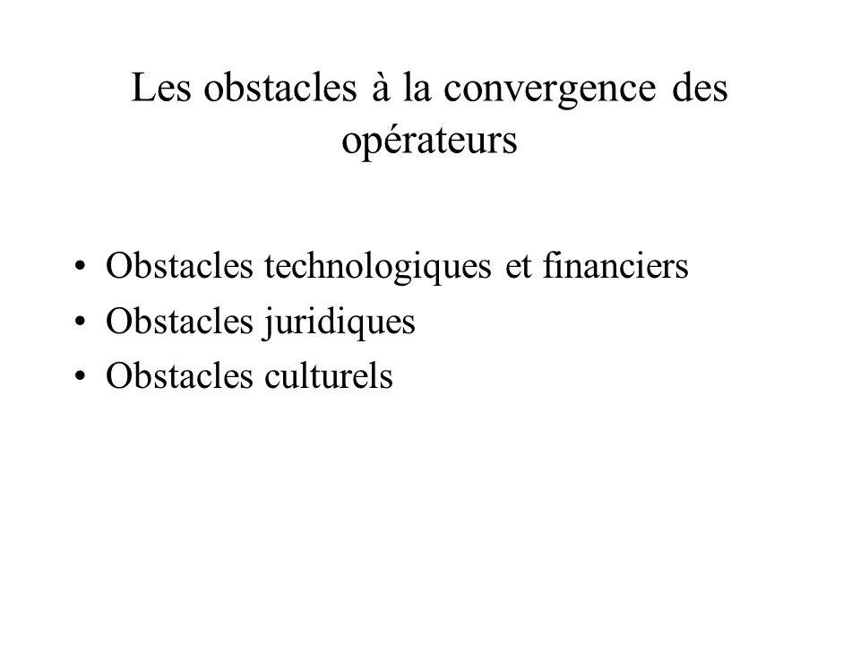 Les obstacles à la convergence des opérateurs
