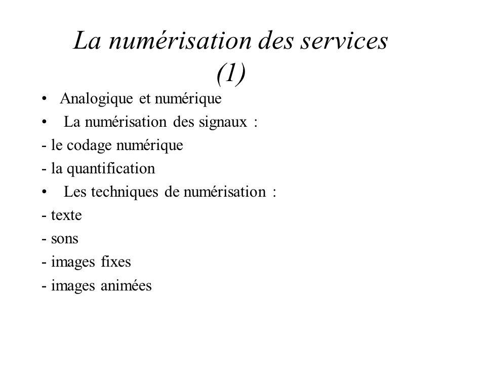 La numérisation des services (1)