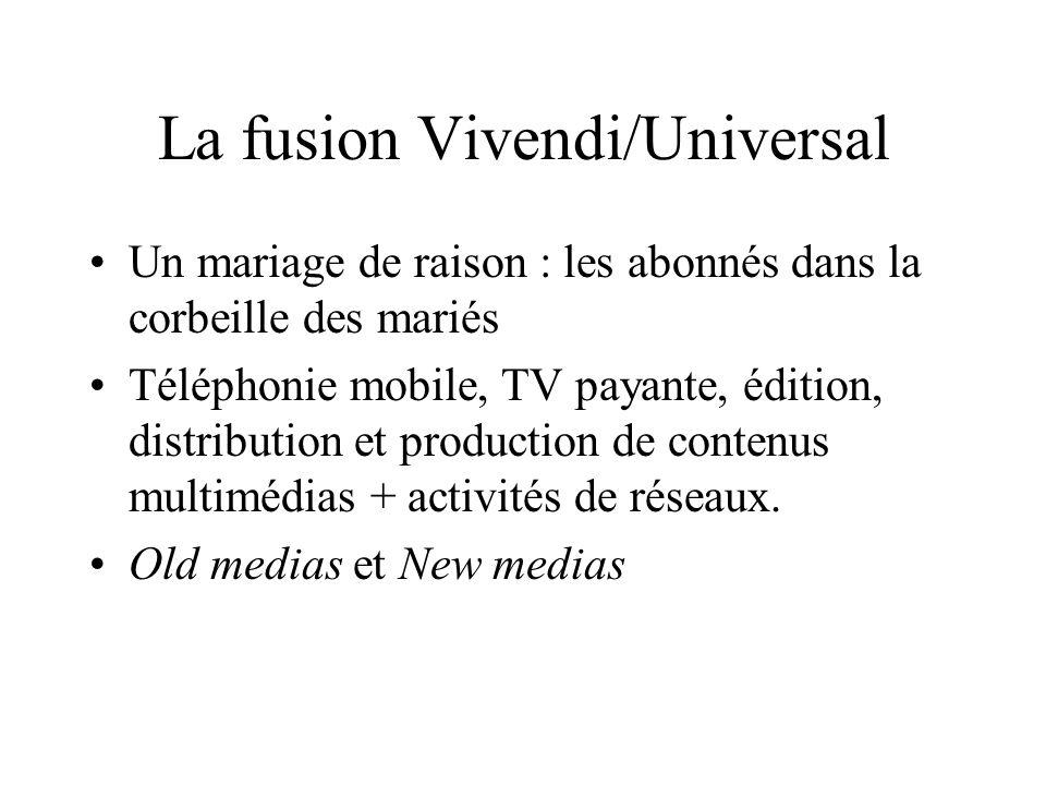 La fusion Vivendi/Universal