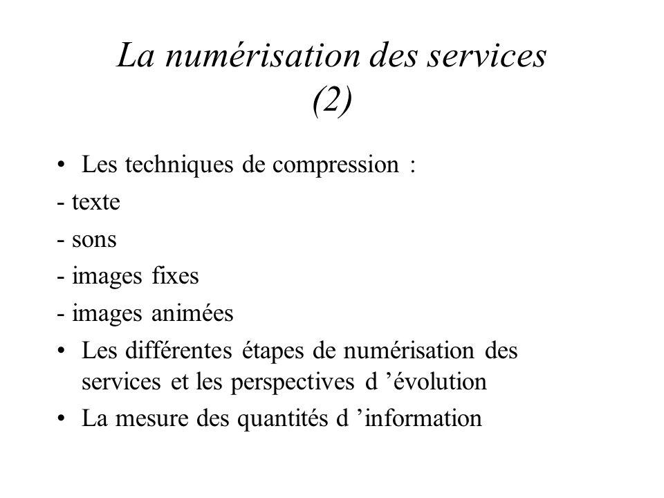 La numérisation des services (2)