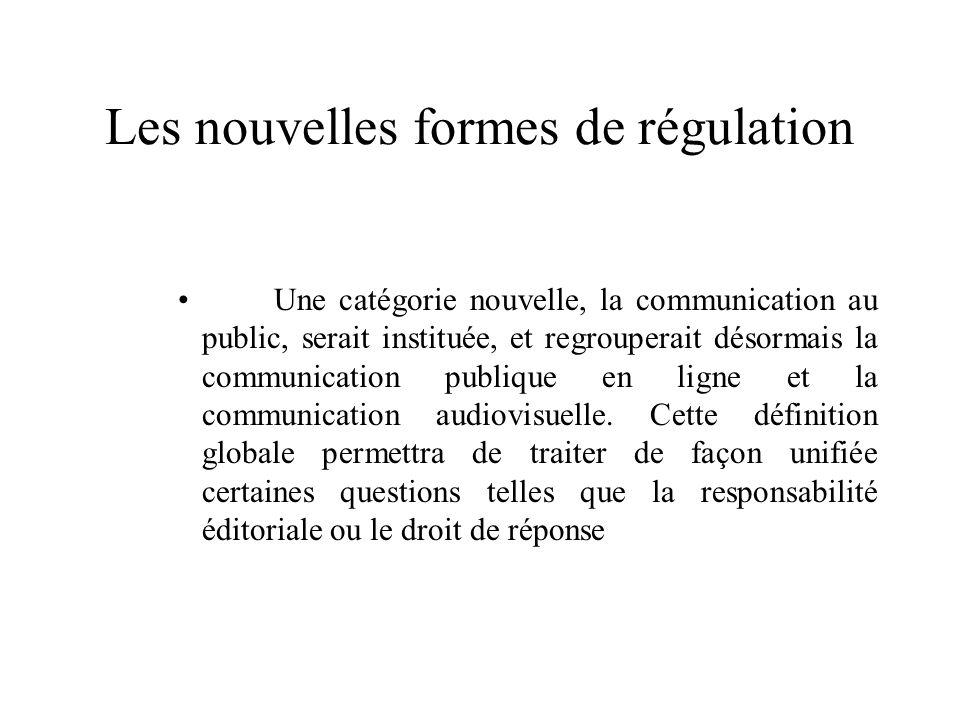 Les nouvelles formes de régulation