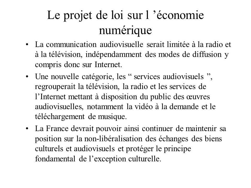 Le projet de loi sur l 'économie numérique