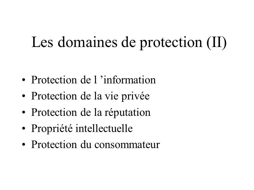 Les domaines de protection (II)
