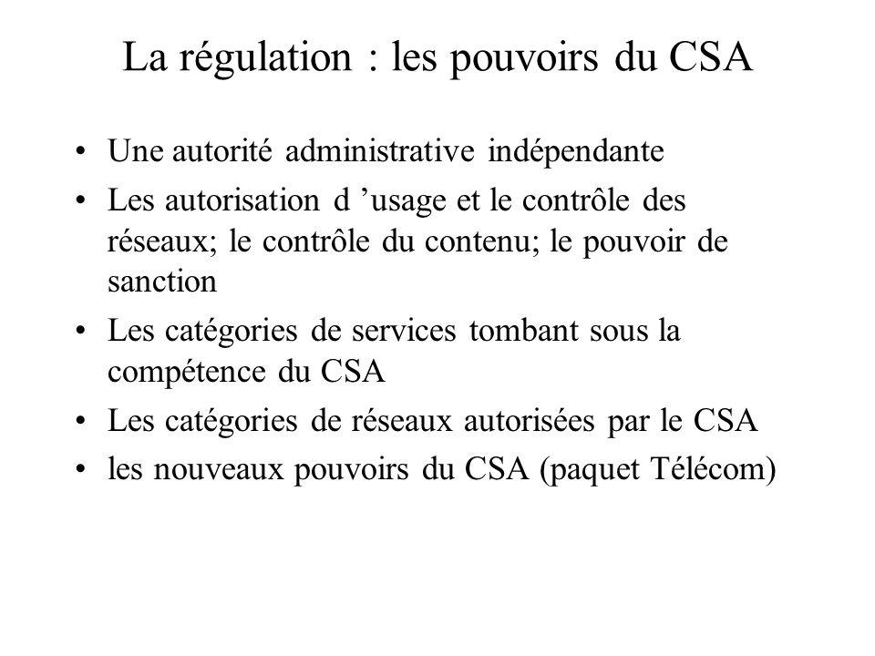 La régulation : les pouvoirs du CSA