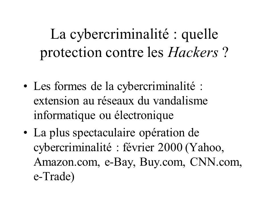La cybercriminalité : quelle protection contre les Hackers