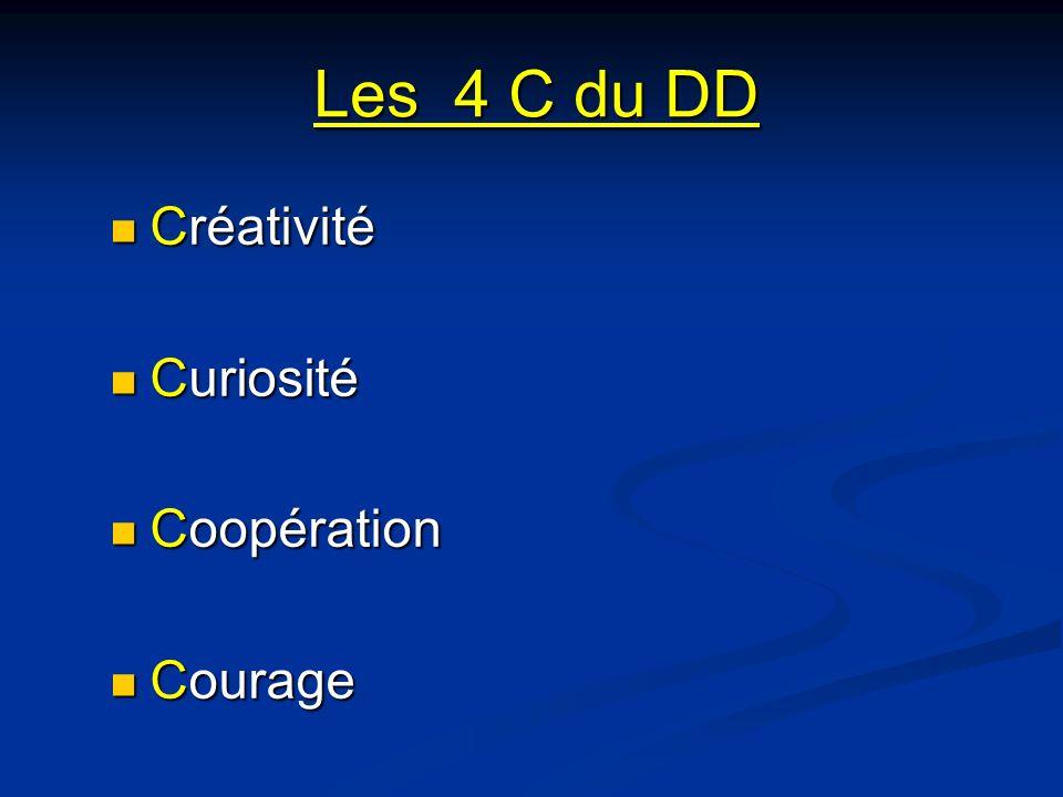 Les 4 C du DD Créativité Curiosité Coopération Courage