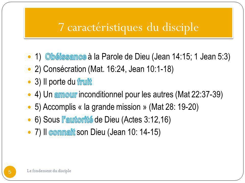 7 caractéristiques du disciple
