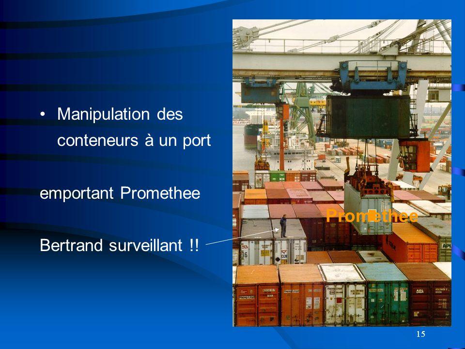 Promethee Manipulation des conteneurs à un port emportant Promethee