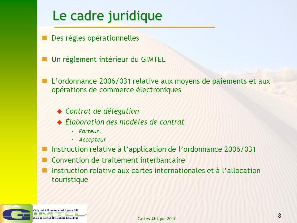 Le cadre juridique Des règles opérationnelles