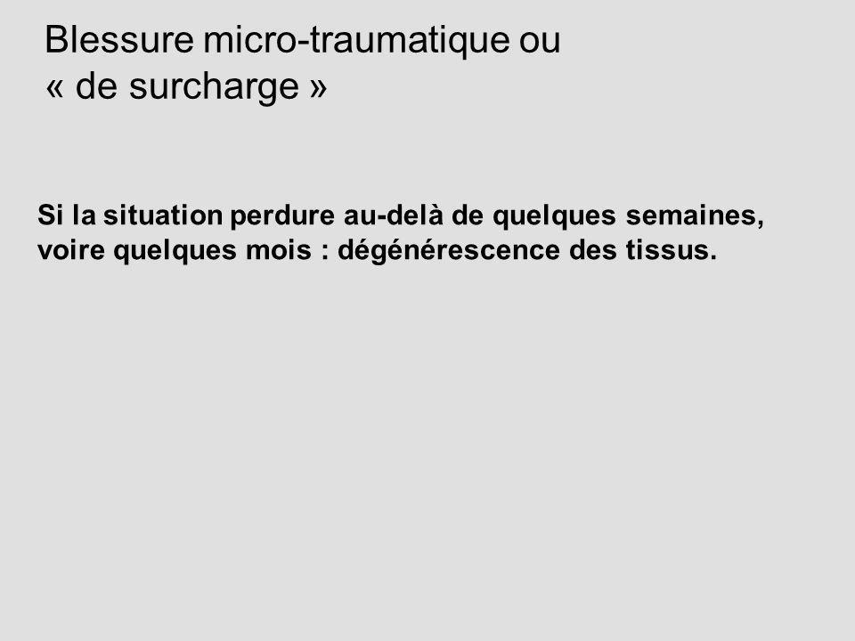 Blessure micro-traumatique ou « de surcharge »