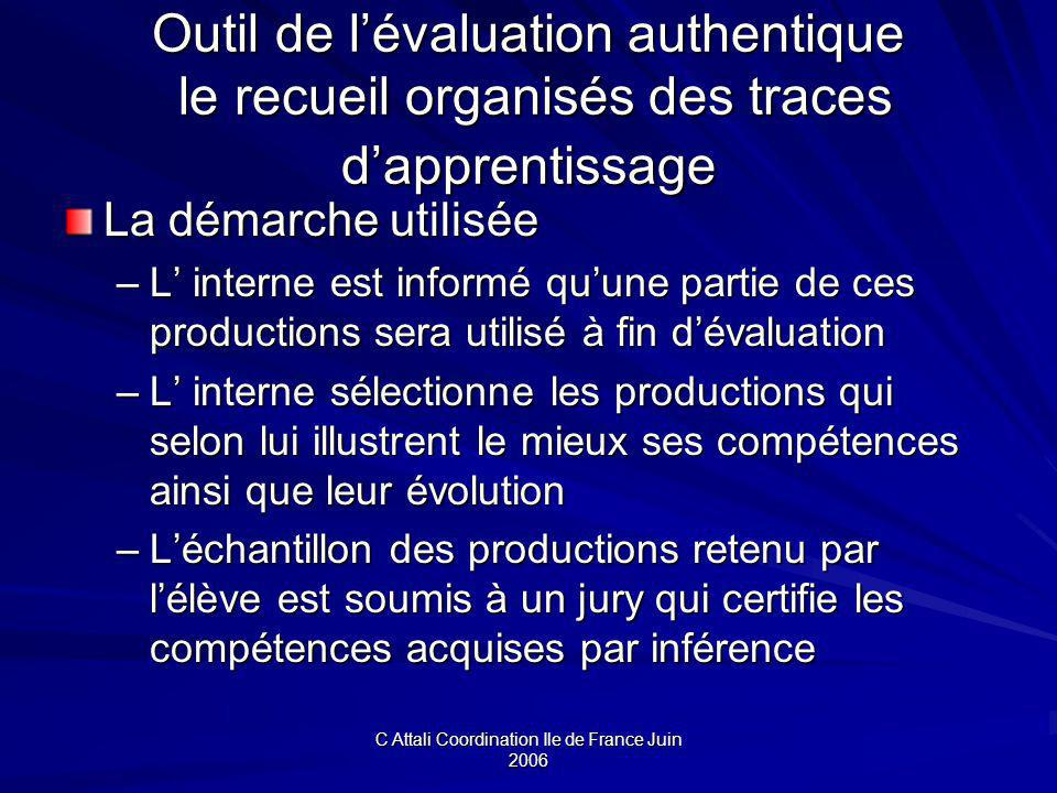 C Attali Coordination Ile de France Juin 2006