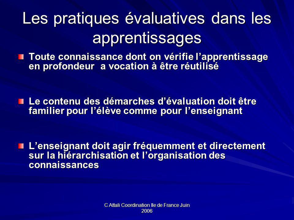 Les pratiques évaluatives dans les apprentissages