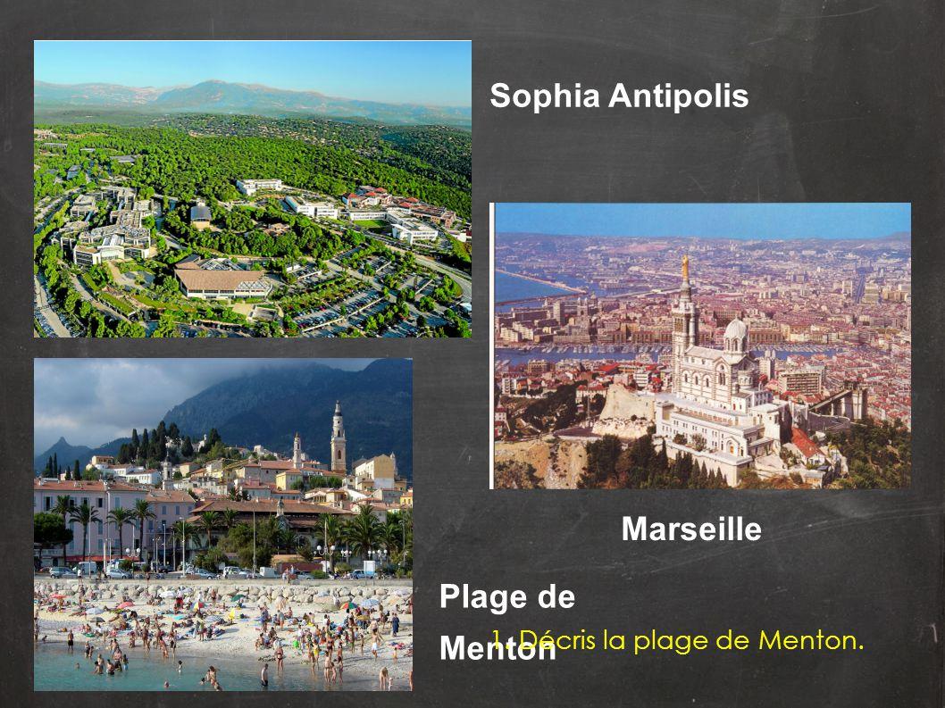 Sophia Antipolis Marseille Plage de Menton