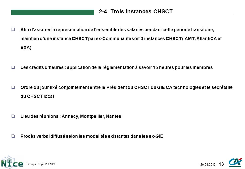 2-4 Trois instances CHSCT
