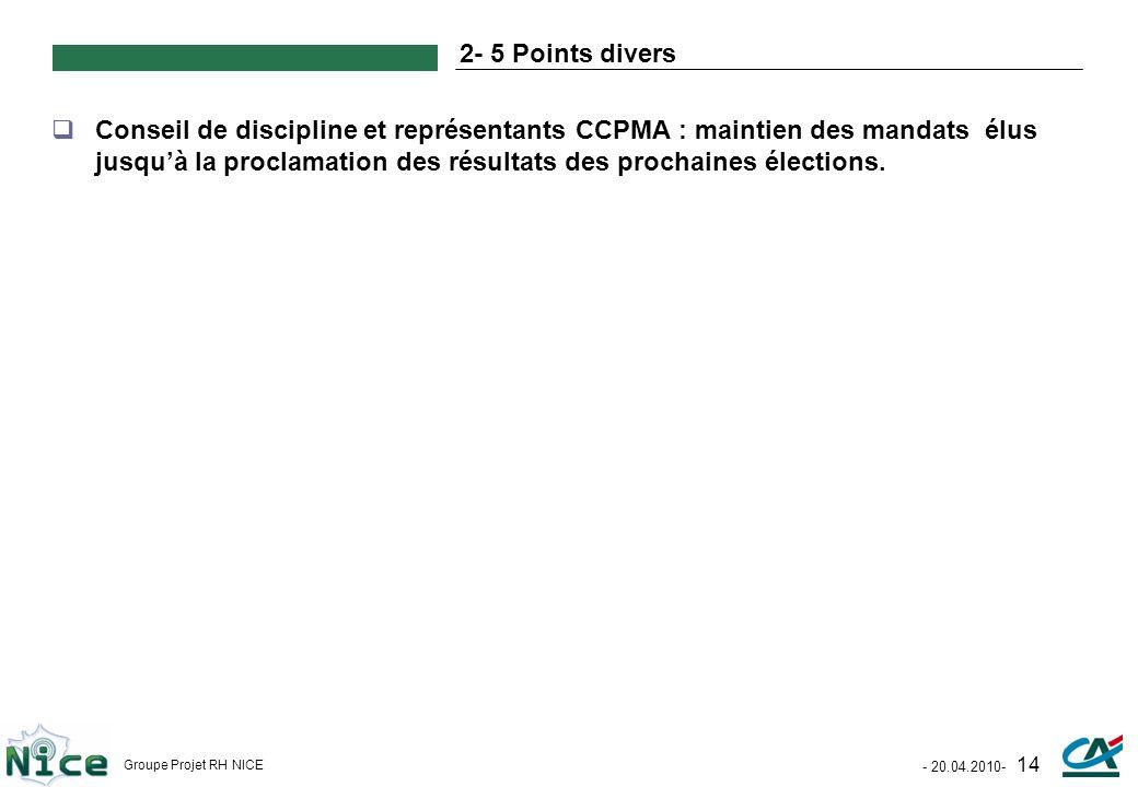 2- 5 Points divers