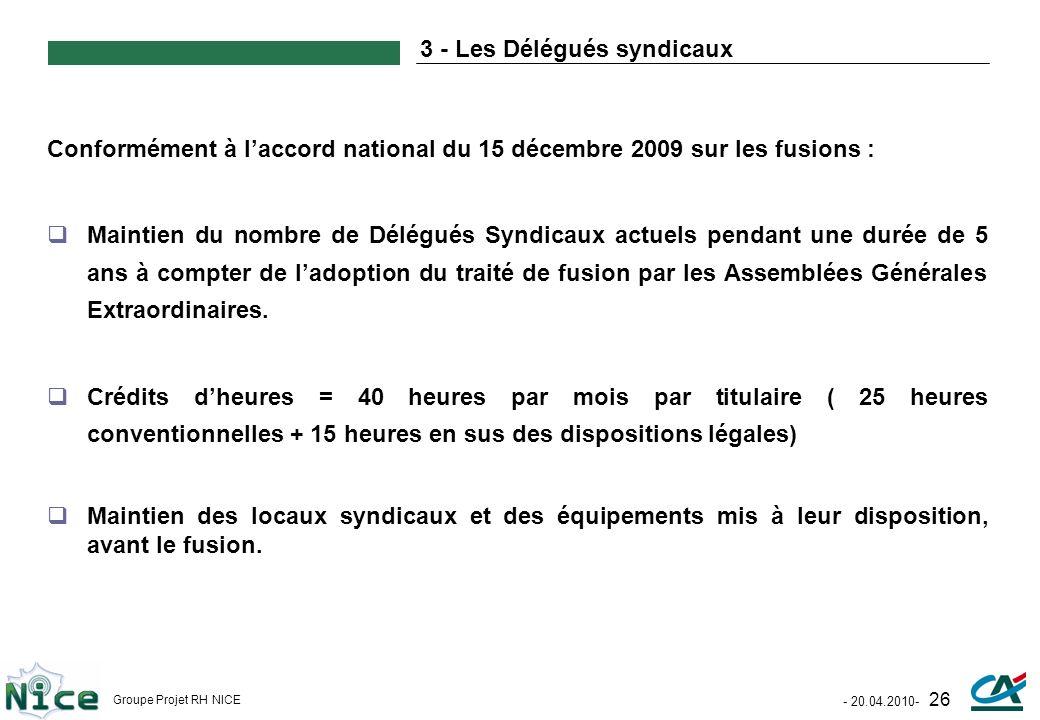 3 - Les Délégués syndicaux