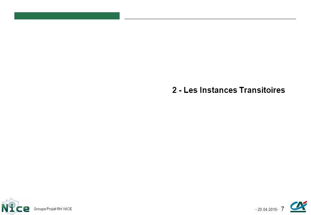 2 - Les Instances Transitoires