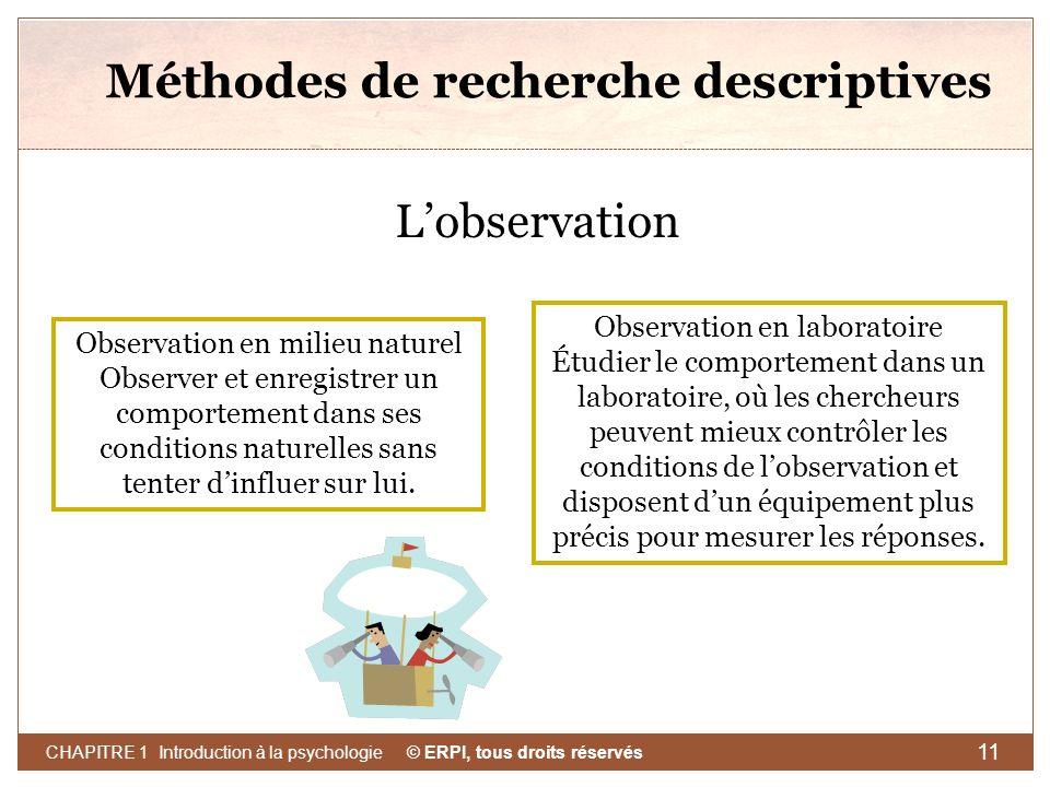 Méthodes de recherche descriptives