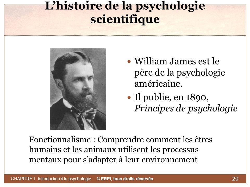 L'histoire de la psychologie scientifique