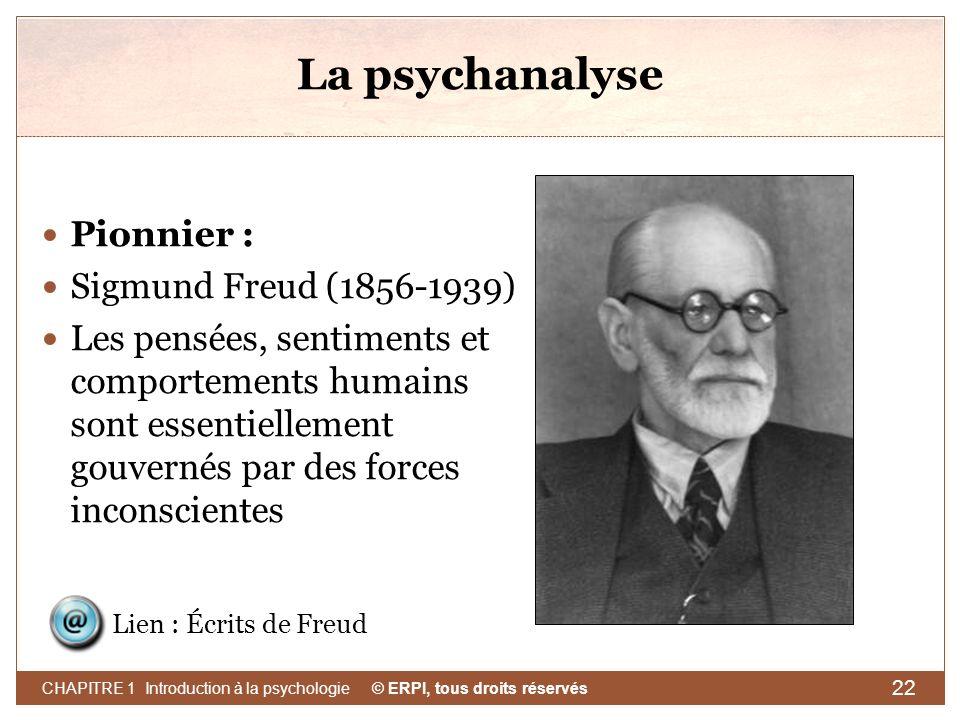 La psychanalyse Pionnier : Sigmund Freud (1856-1939)