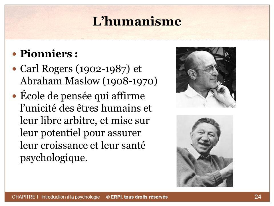L'humanisme Pionniers :
