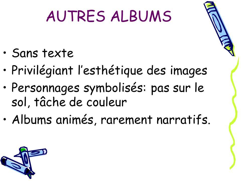AUTRES ALBUMS Sans texte Privilégiant l'esthétique des images
