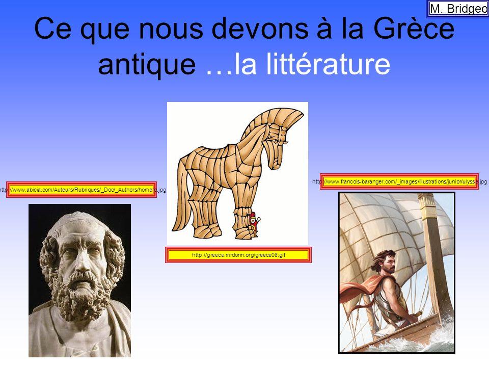 Ce que nous devons à la Grèce antique …la littérature