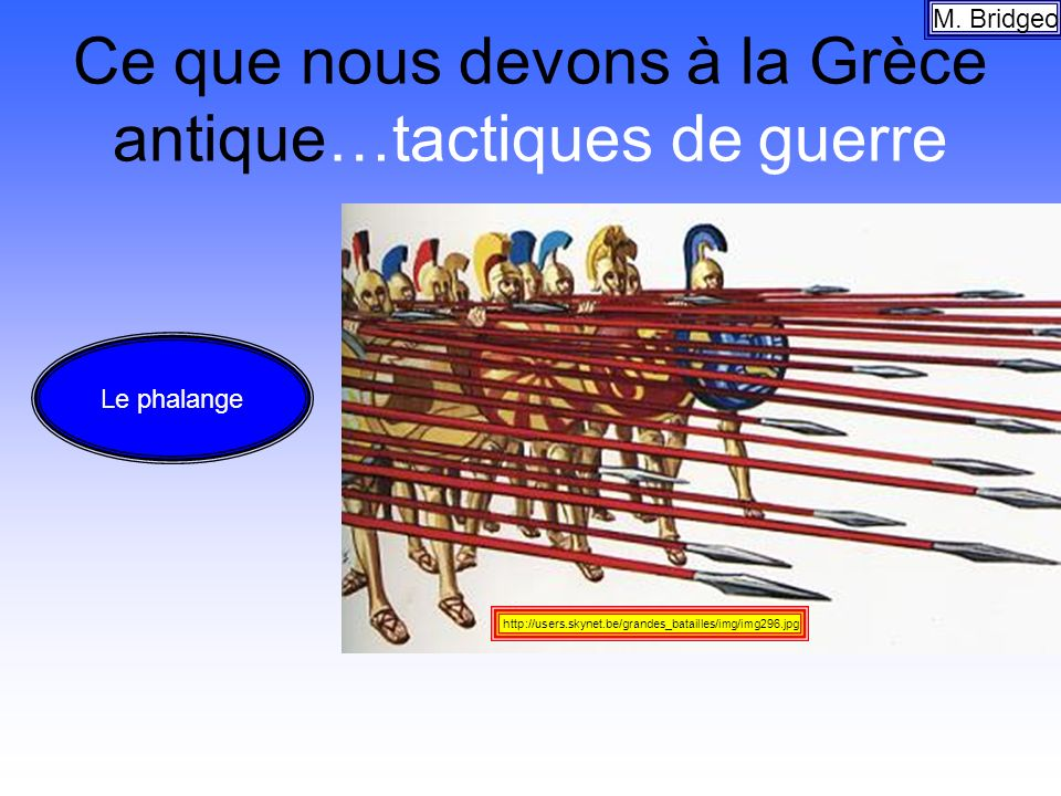 Ce que nous devons à la Grèce antique…tactiques de guerre
