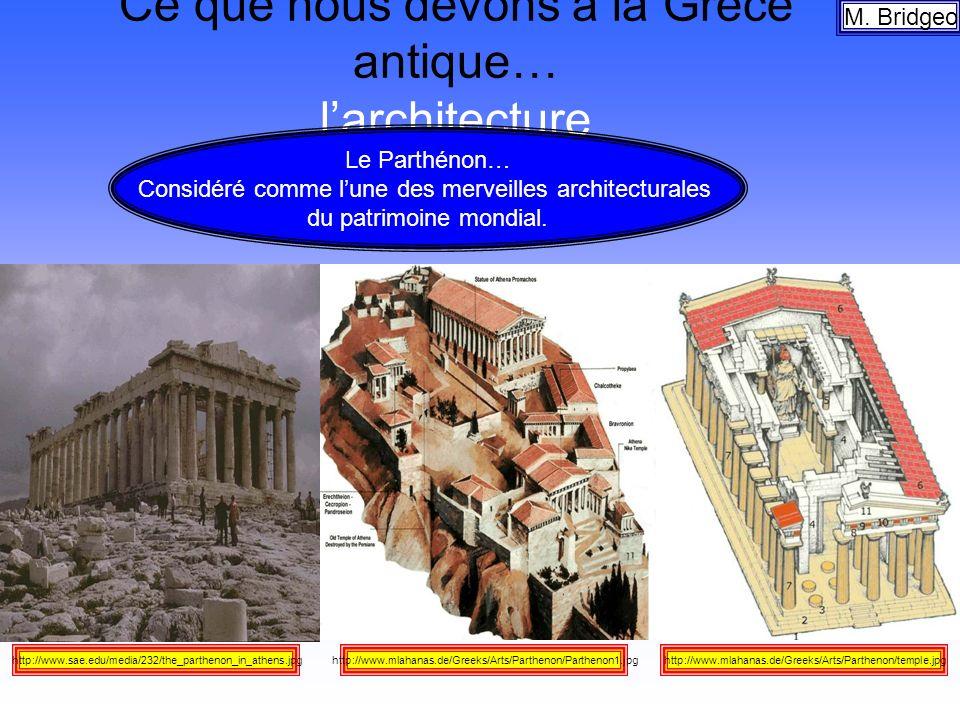 Ce que nous devons à la Grèce antique… l'architecture