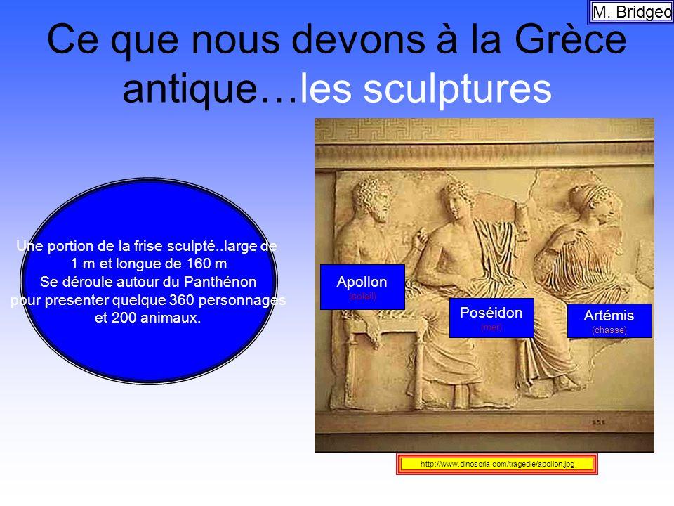 Ce que nous devons à la Grèce antique…les sculptures