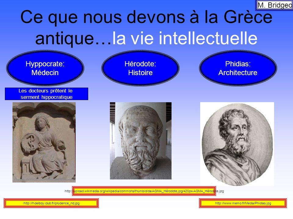 Ce que nous devons à la Grèce antique…la vie intellectuelle
