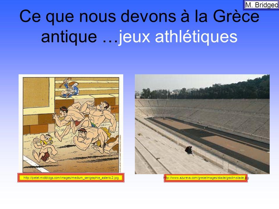 Ce que nous devons à la Grèce antique …jeux athlétiques