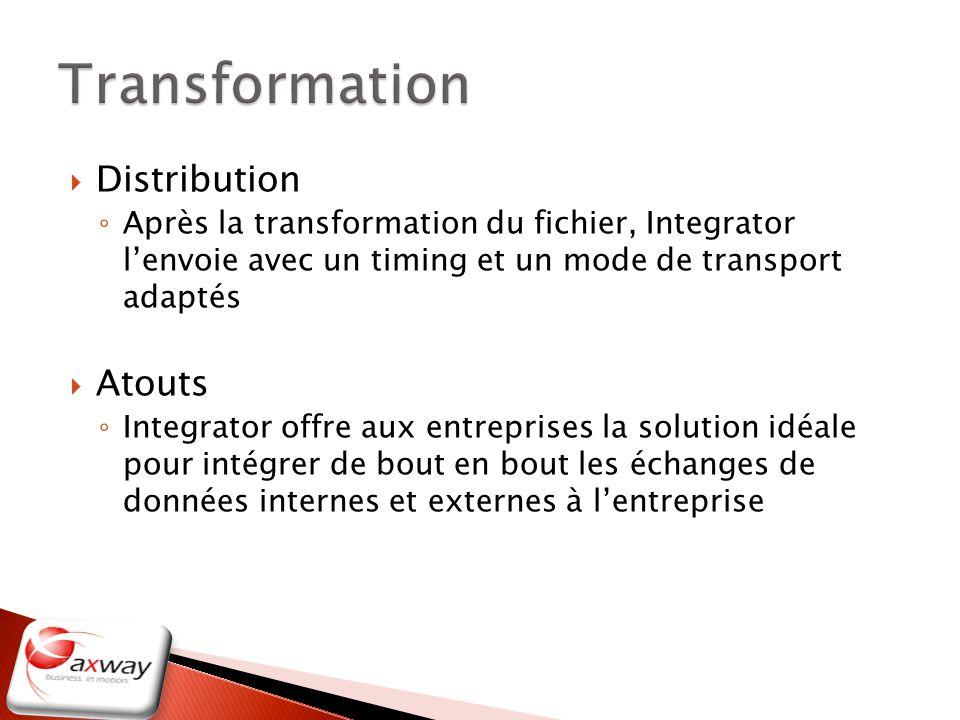 Transformation Distribution Atouts