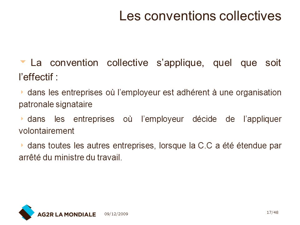 Les conventions collectives